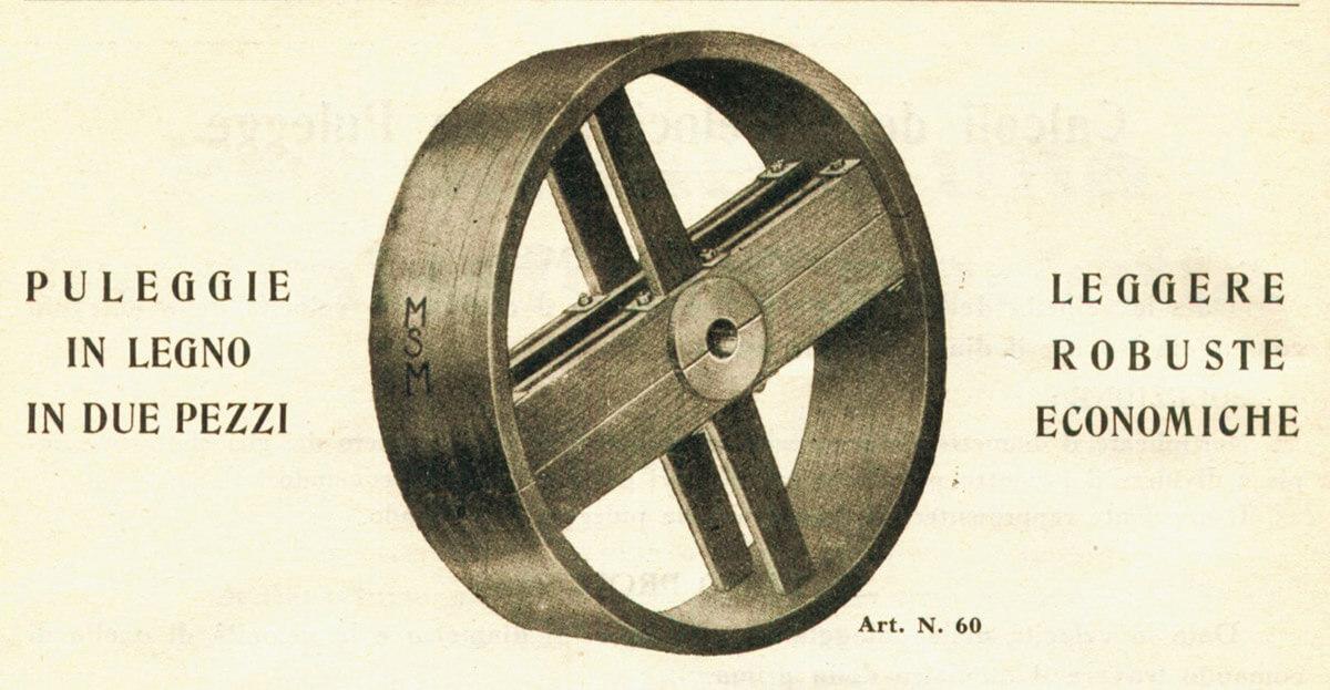 Pulegge in legno - catalogo 1928